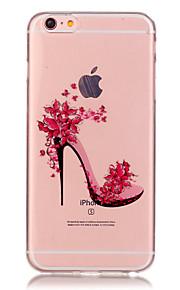 투명 색 높은 굽 신발 패턴은 아이폰에 대한 소프트 케이스 전화 케이스 TPU 6/6 플러스 / 기가 / 기가 플러스