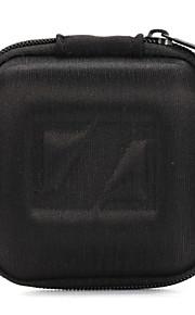 classique eva noir earbud 1pc casque mallette de transport sac de stockage de poche pour écouteurs 8 * 8 * 4cm