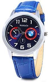 mulheres WoMaGe mostrador redondo relógio de quartzo econômicos com pulseira de couro