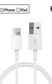 mfi certificeret lyn til usb sync og opladning usb-kabel til Apple iPhone 7 6s plus se 5s / ipad luft / ipad mini-hvid