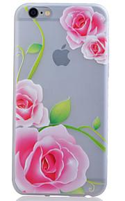 TPU material lyser i mörkret genomskinliga pion lättnad mjukt skydd ringer fallet för iPhone 5 / 5s / se
