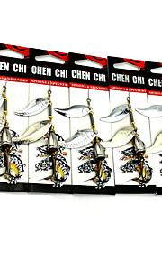 Factory Spoon Fishing Lures 90mm 10.5g Metal Spoon Spinner Baits Random Colors