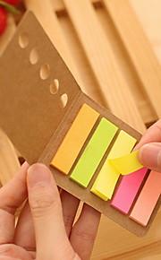 Kraft Paper Cover Colorful Stripe Self-Stick Notes(1 PCS)