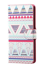 Los triángulos se destacan patrón magnético carpeta de la PU del cuero del tirón para la cubierta de la caja Lenny wiko 3
