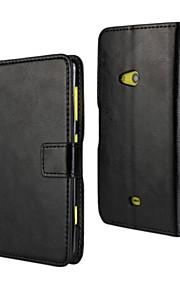 caja de la PU del tirón del cuero estilo de la carpeta de lujo con cierre magnético y una tarjeta para Nokia Lumia 625 (colores surtidos)