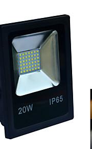 1 stk. Jiawen 20W 42 SMD 2835 1600-1800 lm Varm hvit / Kjølig hvit Vanntett LED-lyskastere AC 220-240 V