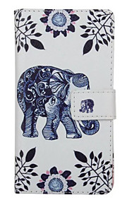 gå elefant mønster pu læder full cover med stativ til Huawei Ascend p9