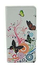 Modelo de mariposa caja de la PU del tirón del cuero con cierre magnético y la ranura para tarjeta para el lumia 540 Microsoft