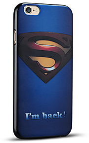 pregede superman beskyttende bakdekselet myk iphone case for iphone 6s pluss / iphone 6 pluss
