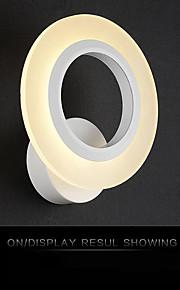 Indoor Modern Acrylic LED Wall Light Round Shaped Bedside Lamp Corridor Lights AC85-265V