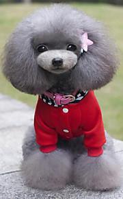 Cães Casacos / Camisola com Capuz Vermelho / Preto Inverno / Verão / Primavera/Outono Clássico Fashion-Lovoyager