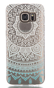 Per Samsung Galaxy S7 Edge Transparente / Fantasia/disegno Custodia Custodia posteriore Custodia Fiori Mandala TPU SamsungS7 edge / S7 /
