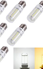 6 stk. YouOKLight® E14 / E26/E27 4W 69 SMD 5730 240 lm Varm hvit / Kjølig hvit T Dekorativ LED-kornpærer AC 220-240 / AC 110-130 V