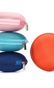 1Pc SD Hold Case Storage Carrying Hard Fiber Bag Box for Earphone Headphone Earbuds 9*9*4cm Blue Pink Orange