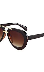 Solbriller kvinder's Retro/vintage / Mode Spejlet / 100% UV400 Trekkingbriller Sort / Sølv / Guld Solbriller Full-Rim