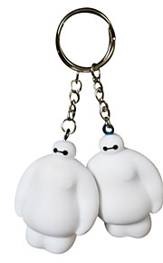 5.5 Cm White Evade Glue Fair Young Key Chain With Whistles