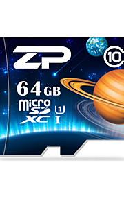 ZP 64GB UHS-I U1 / Clase 10 MicroSD/MicroSDHC/MicroSDXC/TFMax Read Speed80 (MB/S)Max Write Speed20 (MB/S)