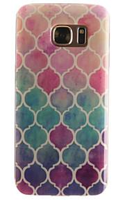 caso de telefone gradiente acolchoado material padrão IMD TPU + para Galaxy S3 / s3mini / S4 / s4mini / S5 / s5mini / S6 / S6 edge / S7 /