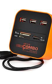 usb 2.0 3 Anschlüsse / Schnittstellen USB-Hub Kartenleser Combo 7.5 * 7.5 * 3
