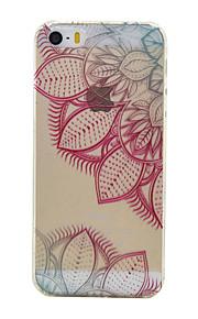 rosa material de TPU deixa o teste padrão caixa do telefone fino para iphone SE / 5s / 5