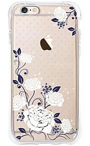 kakashi bloempatroon TPU schilderij airbag Hoogte- zachte hoes voor de iPhone 6s / 6 / 6s plus / 6 plus (tuberose)