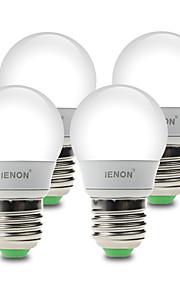 3W E26/E27 LED-globepærer G60 6 SMD 210-240 lm Varm hvit / Kjølig hvit Dekorativ AC 100-240 V 4 stk.