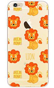 kakashi schattige dieren patroon TPU schilderij zachte hoes voor de iPhone 6s / 6 / 6s plus / 6 plus (zon leeuw)