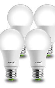 9W E26/E27 LED-globepærer A60(A19) 1 COB 850-900 lm Varm hvit / Kjølig hvit Dekorativ AC 100-240 V 4 stk.