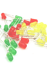 5mm LED Light-Emitting Diodes Set - Red + Yellow + Green (30PCS)