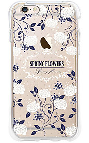 kakashi bloempatroon TPU schilderij airbag Hoogte- zachte hoes voor de iPhone 6s / 6 / 6s plus / 6 plus (witte bloem)