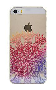 material de TPU sorte padrão de flor caso de telefone fino para iphone SE / 5s / 5