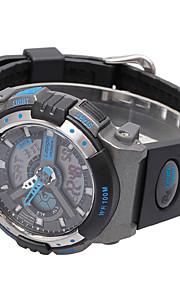 Masculino Relógio Esportivo Digital PU Banda Preta / Branco / Azul / Prata marca-