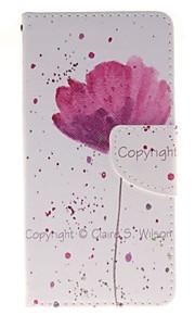 фиолетовый держатель орхидеи карты бумажник PU кожаный чехол для телефона Huawei P9 / p9lite