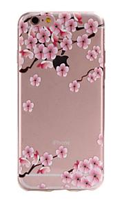 materiais TPU flores cor de rosa para cima e para baixo padrão slim case de telefone para 6s iphone plus / 6 plus / 6s / 6