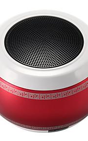 tamburo d'acciaio portatile metallo mini intelligenti mani senza fili altoparlanti bluetooth gratuita della carta di TF di sostegno rosso