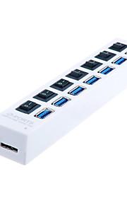 USB 3.0 7 Anschlüsse / Schnittstellen USB-Hub mit separater Schalter 19 * 34 * 1.5