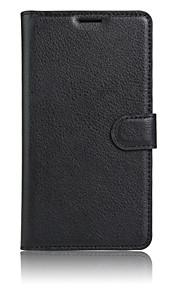 pu leer effen kleur flip cover portemonnee geval is met standaard full body geval voor één plus 3