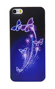 TPU material de borboleta roxa padrão caixa do telefone fino para iphone SE / 5s / 5