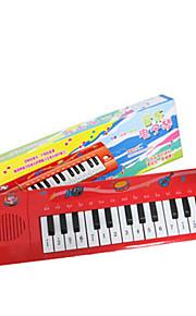 Teclado criança simulação de plástico vermelho para crianças acima de 3 brinquedo instrumentos musicais