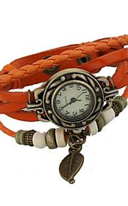 senhoras couro de liga artesanal tabela do vintage pulseira (mais cores)