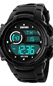 Masculino Assista Digital Relógio Esportivo LCD / Calendário / Cronógrafo / Impermeável / alarme / Luminoso / Cronômetro Borracha Banda