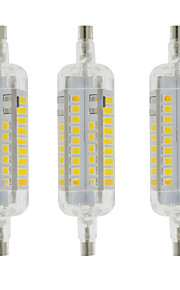5W R7S LED-kornpærer T 60 SMD 2835 800 lm Varm hvit / Kjølig hvit Dekorativ / Vanntett AC 220-240 V 3 stk.