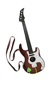 plast brun simulation barn guitar for børn over 3 musikinstrumenter legetøj