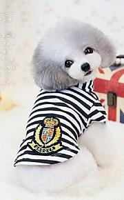 犬用品 Tシャツ ブラック / ブルー / ピンク 冬 / 夏 / 春/秋 クラシック / 縞柄 結婚式 / クリスマス / バレンタインデー / ファッション-Lovoyager