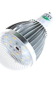 5W GU10 LED-globepærer A60(A19) 10 COB 480 lumens lm Varm hvit / Naturlig hvit Dekorativ AC 85-265 V 1 stk.