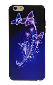 TPU borboleta roxa padrão caso telefone fino material para 6s iphone plus / 6 plus / 6s / 6