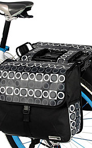 Roswheel® Carrier Bag 28L Rear Rack Trunk Bike Luggage Back Seat Pannier Two Double Bags Outdoor Cycling Saddle Storage