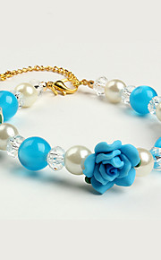 Cat / Dog Collar / Necklace Pearl / Flower Blue / Pink Plastic