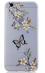 TPU material lyser i mörkret genomskinliga blommor lättnad mjukt skydd ringer fallet för iphone 6 / 6s / 6 plus / 6s plus