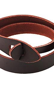 Wrap Armbånd / Læder Armbånd 1pc,Kaffe / Sort Armbånd Legering / Læder Smykker Dame / Unsex